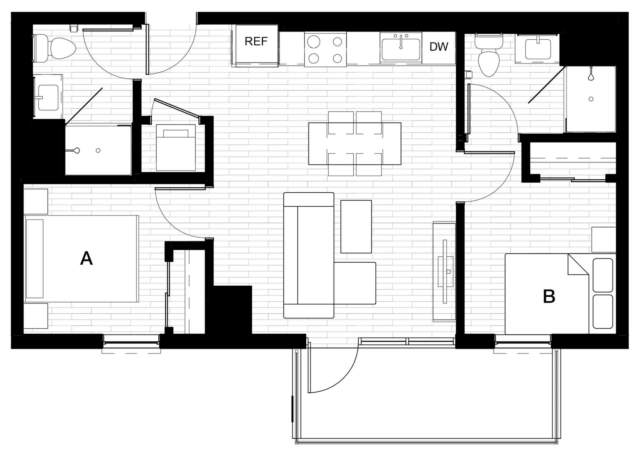 2x2 A - Balcony