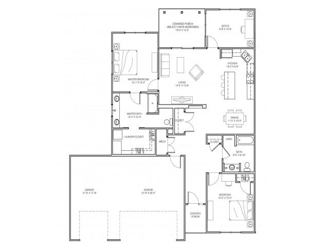 2 Bedroom Premium Floor Plan Image