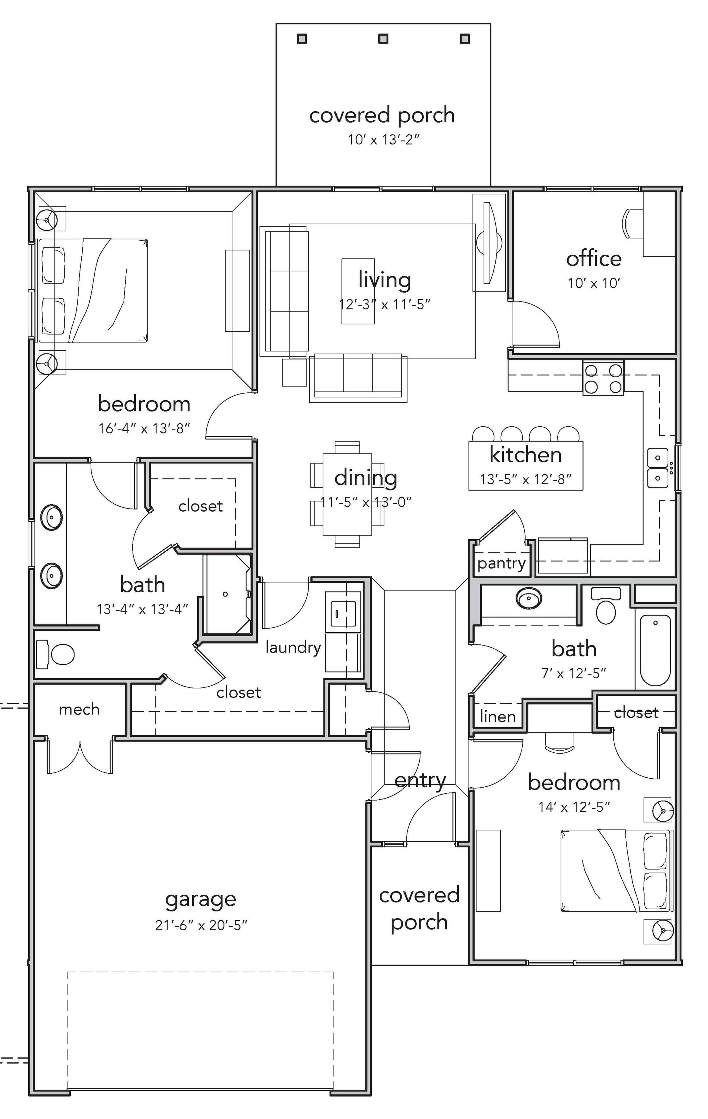 2 Bedroom Deluxe Floor Plan Image