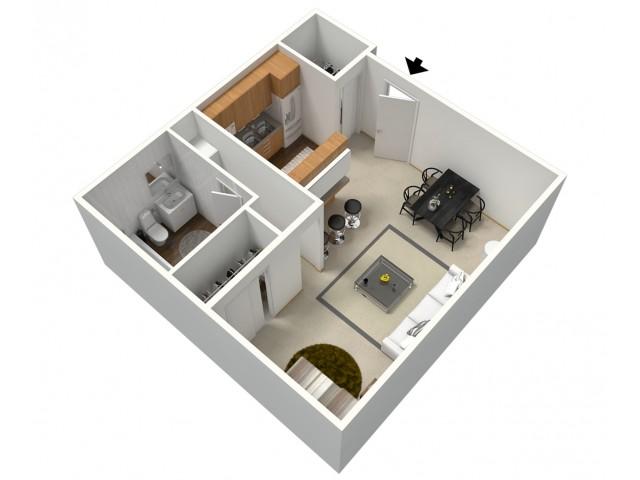 Studio 3D Furnished