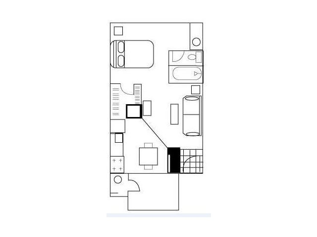 Floor Plan 1 | Austin Apartments | Barton\'s Mill