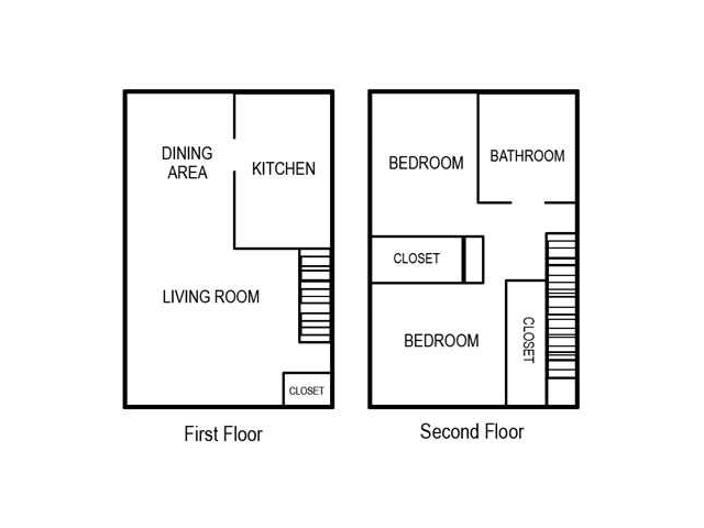 Two Bedroom | One Bathroom | 850 sqft