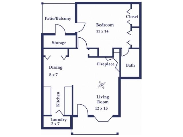 One Bedroom/One Bathroom  Dogwood