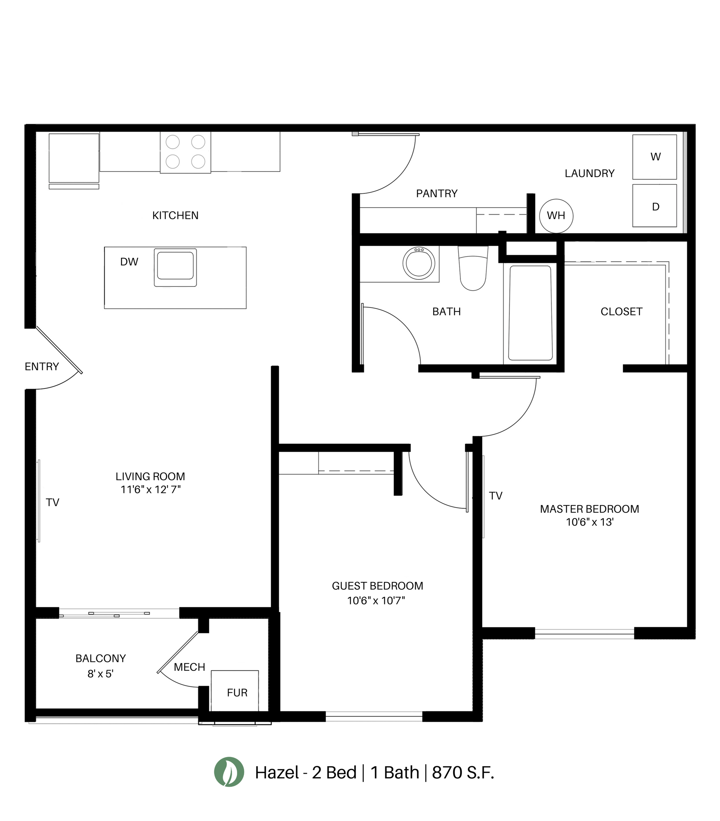 The Hazel Floor Plan Layout