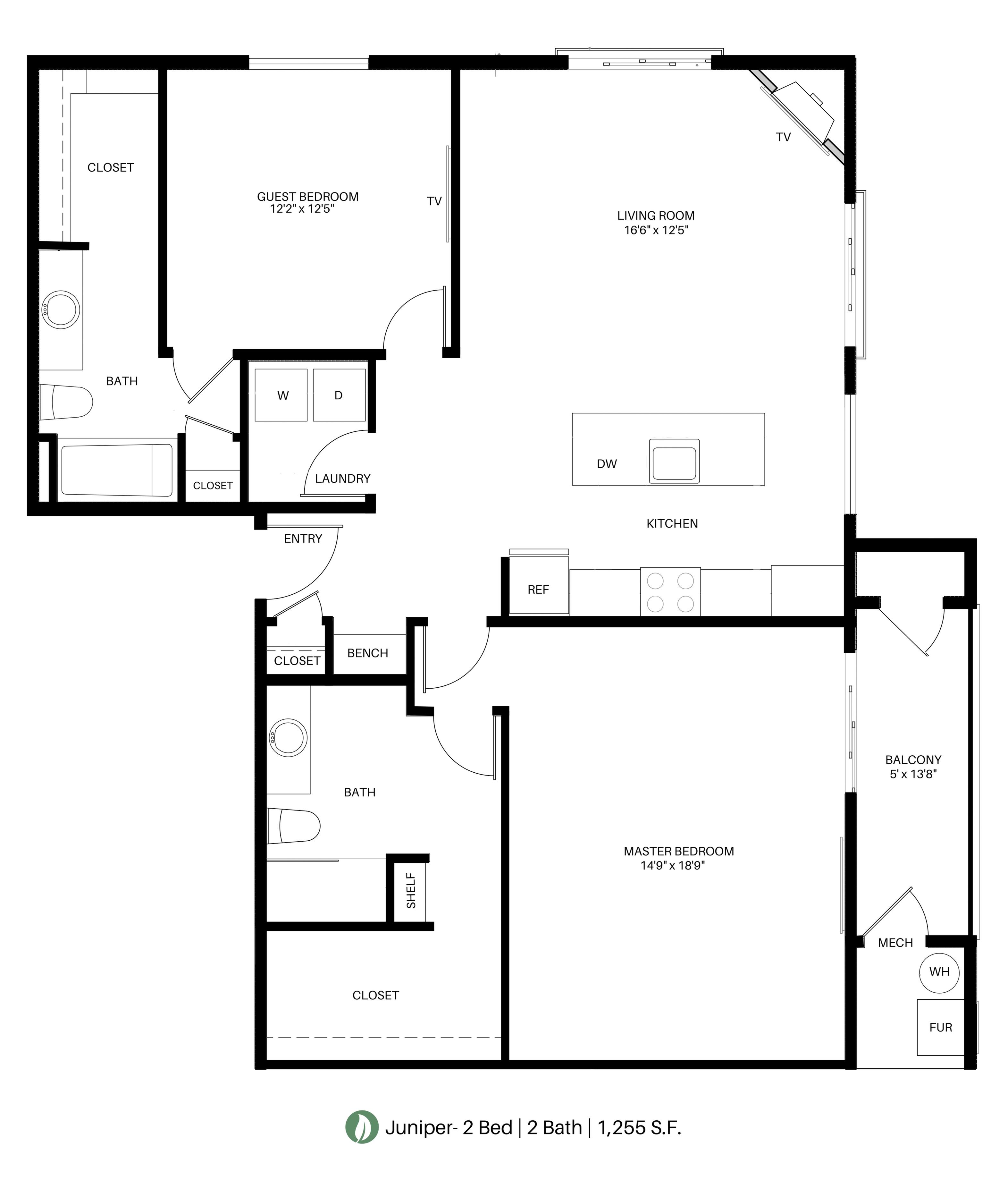 The Juniper Floor Plan Layout