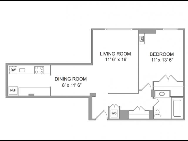 1 Bedroom Apts in Arlington VA | Wildwood Park