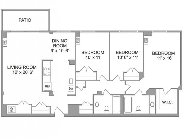 3 Bedroom Apts in Arlington VA | Wildwood Park