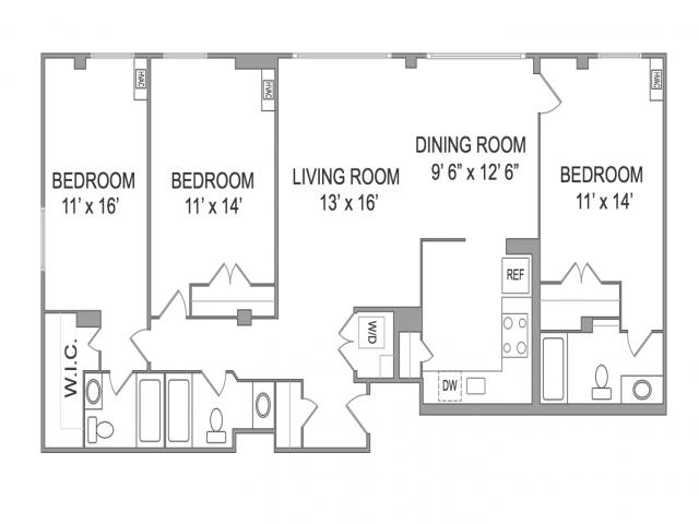 3 Bedroom Apts in Arlington VA | Wildwood Park 2