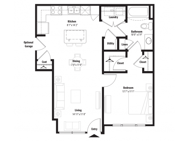 A 2D Drawing Of The A1G Floor Plan