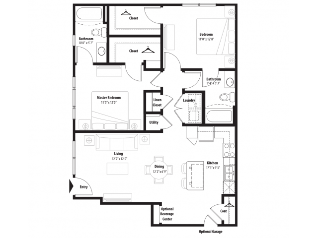 A 2D Drawing Of The B1G Floor Plan