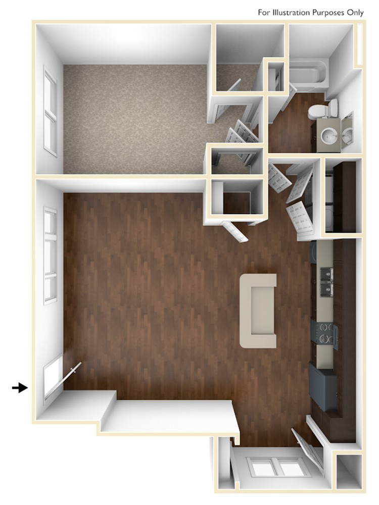 A 3D Drawing of the A2 Floor Plan