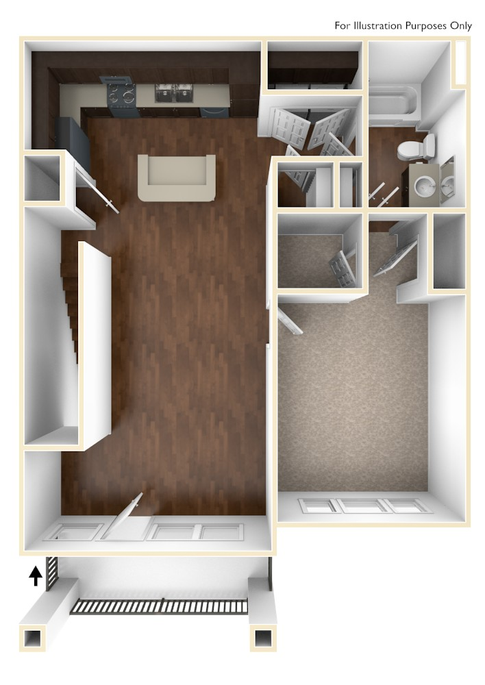 A 3D Drawing of the A3 Floor Plan