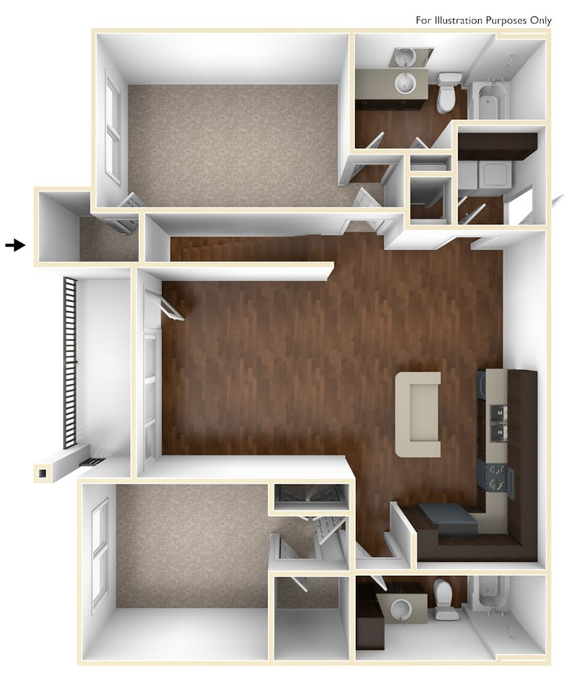 A 3D Drawing of the B4 Floor Plan