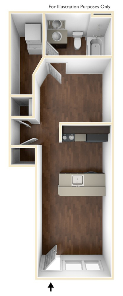 A 3D Drawing of the S1 Floor Plan