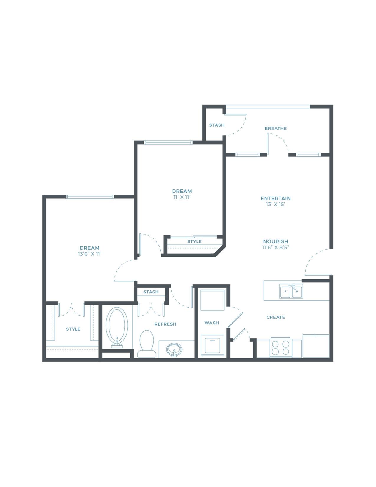 The Bay Oak WF Floor Plan