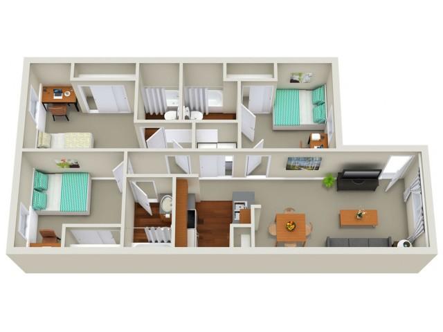 3 bedroom apartment Sacramento