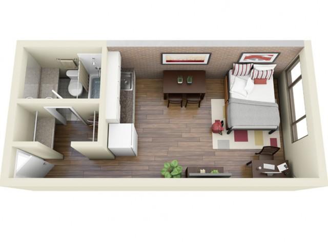 Main Kitchen 3D Floor Plan