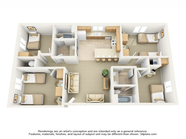 4x2 floor plan