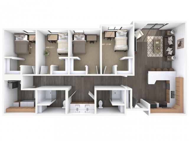 4x2 floorplan map
