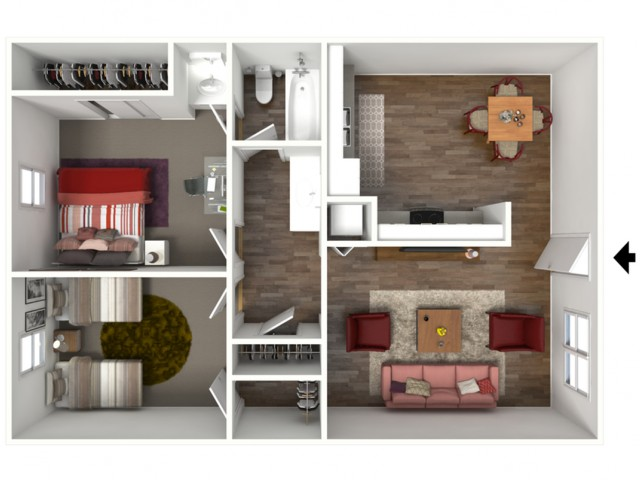 The Claremont (2X1) 3D Furnished