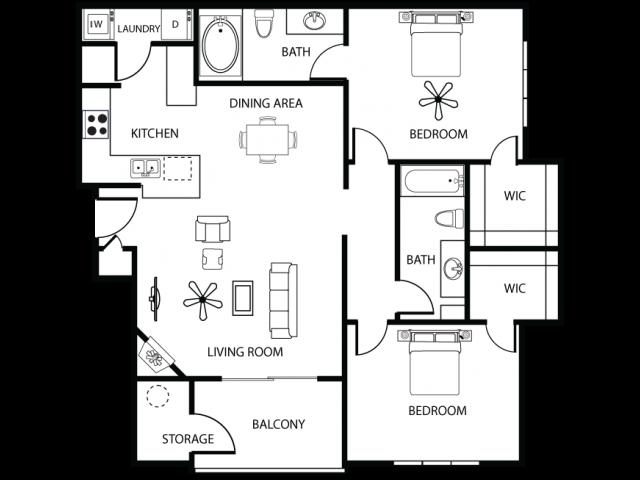 2 Bdrm Floor Plan