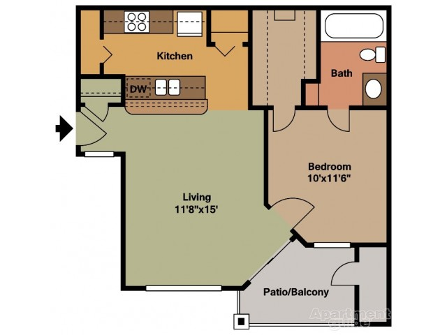 A1 One Bedroom/One Bath
