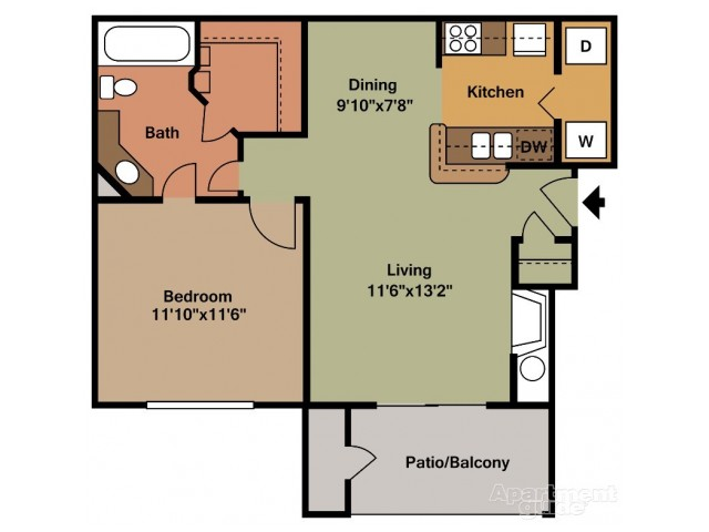 A2 One Bedroom/One Bath