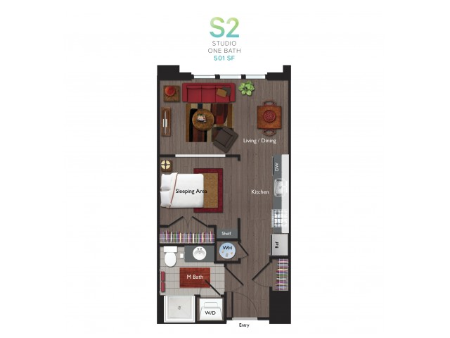 Studio Floor Plan | ValleyBloom 2