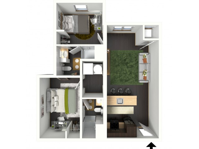 2 Bedroom x 2 Bathroom