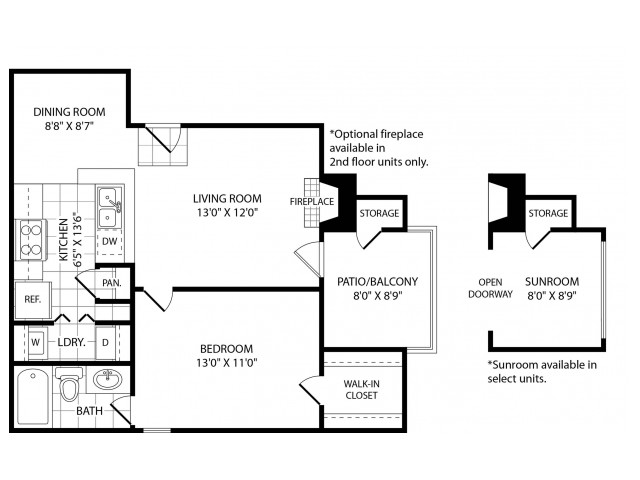 One Bedroom One Bath 600 Sq Ft 1 Bed Apartment Hickory Highlands Apartments