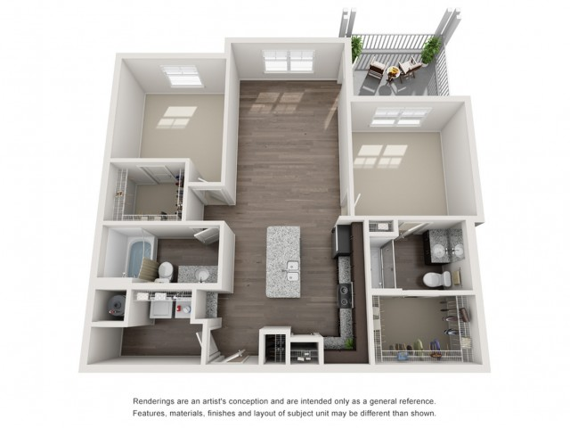Two Bedroom / Two Bath - 1116 Sq Ft