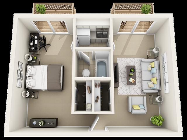1 bedroom - 207 NW 17 Street
