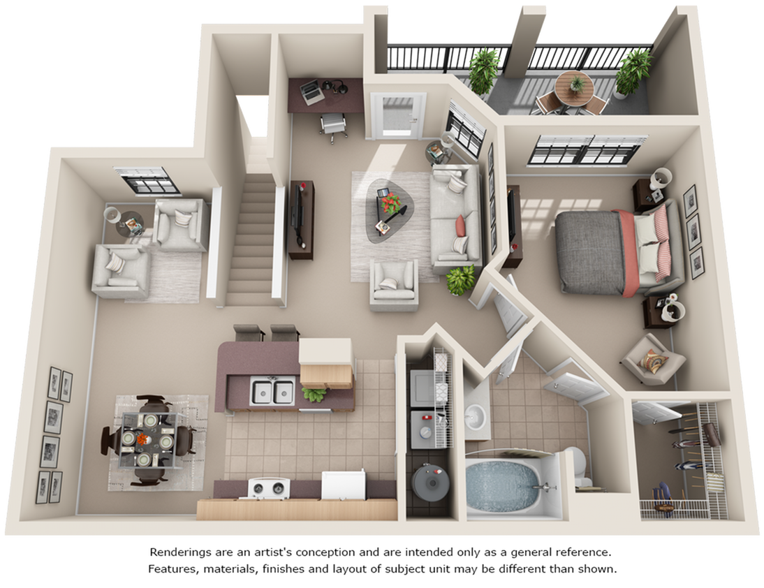 Lippizan 1 bedroom 1 bathroom floor plan