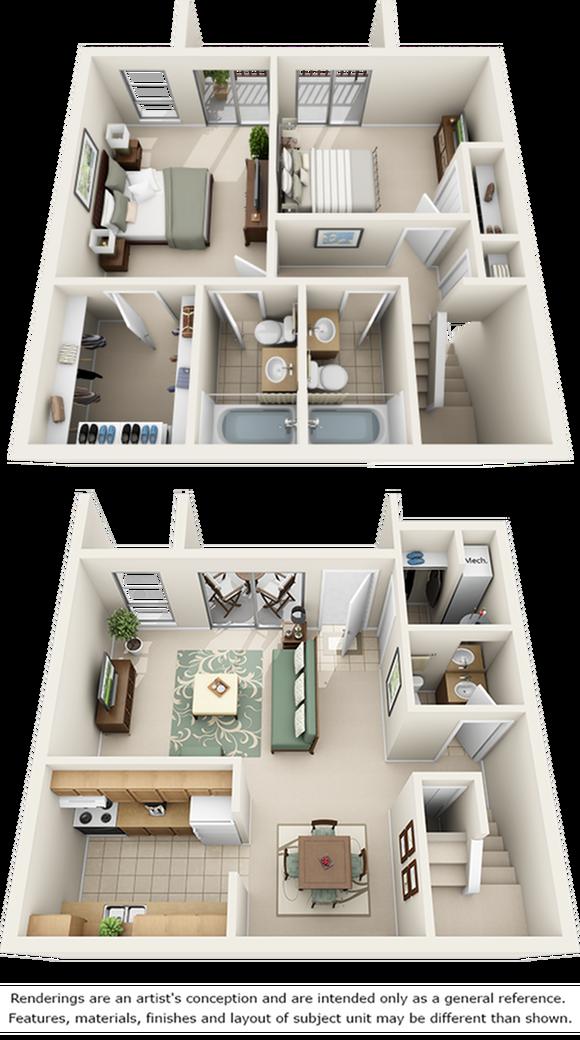 Orange Blossom with Premium Cabinetry Floor Plan