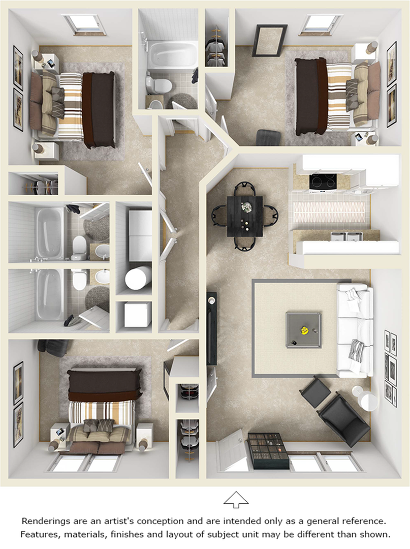 3-3 Flat floor plan