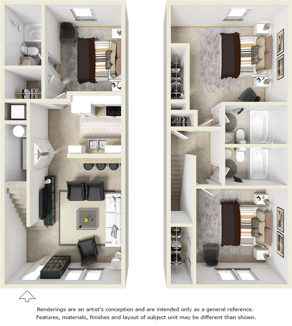 3-3 TH floor plan