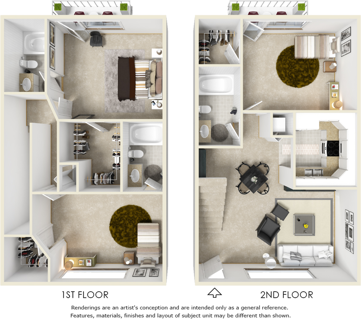Kensington 3 bedrooms 3 bathrooms floor plan