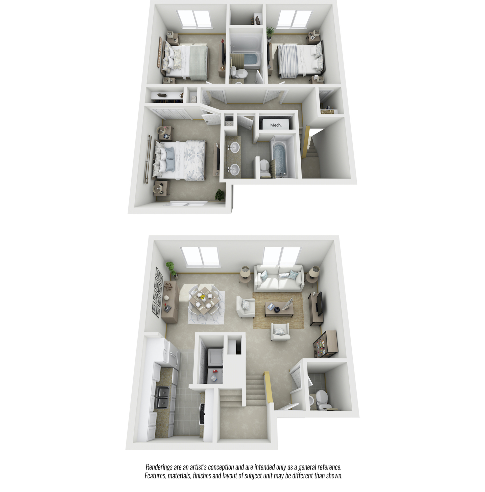Brentwood 3 bedrooms 2.5 bathrooms with premium finishes