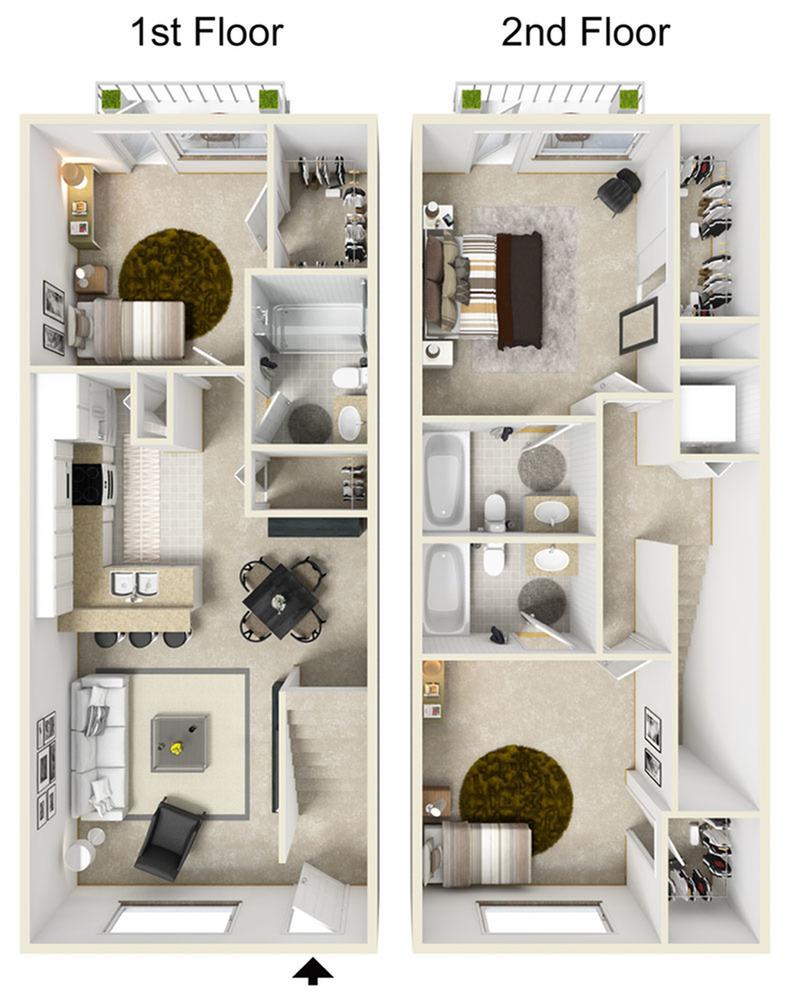 AS43-3IP Floor Plan