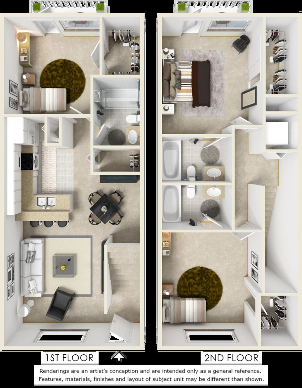 Midwood 3 bedroom 3 bathroom floor plan