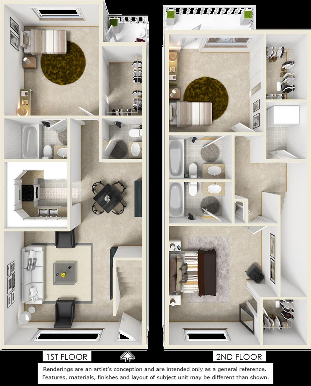 Windsor 3 bedroom 3 bathroom floor plan