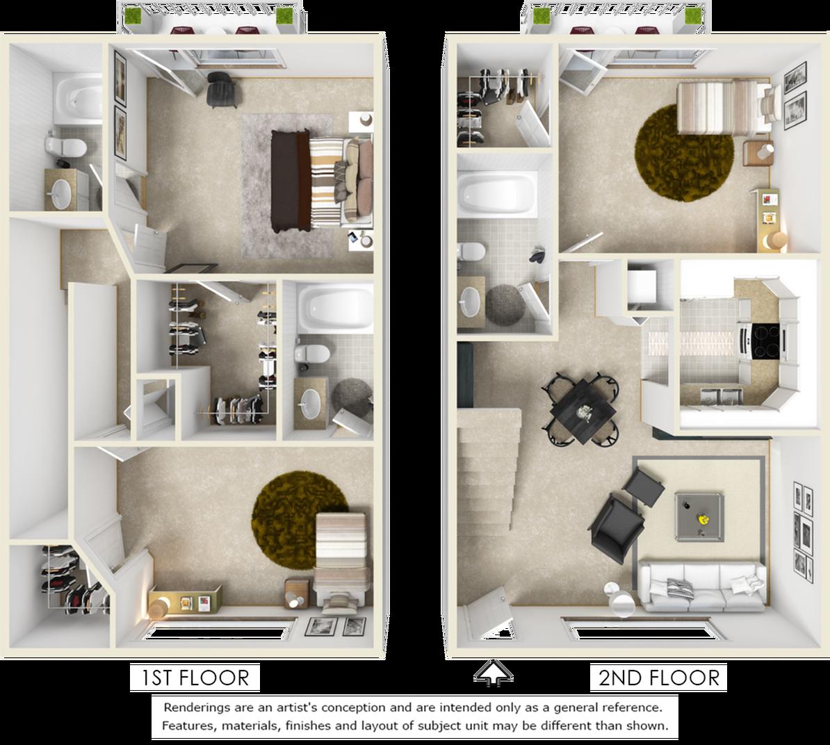 Kensington 3 bedroom 3 bathroom floor plan