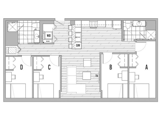 4x2 B Terrace