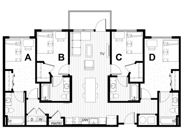 4x4 A Balcony Fewer Than 5 Spaces Remaining