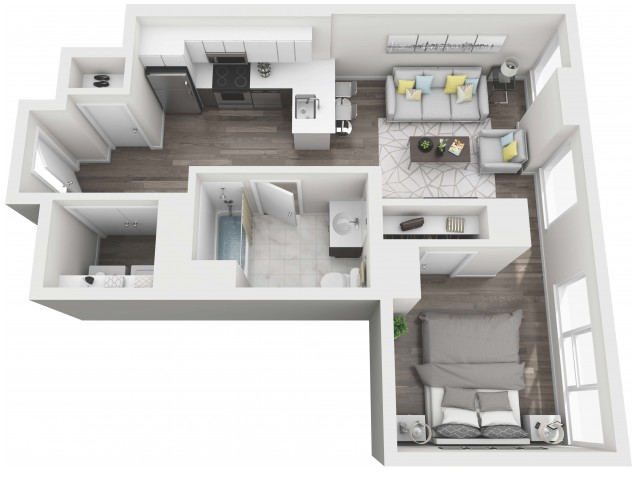 UNIT 02 | 3D FLOOR PLAN