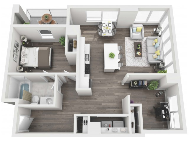UNIT 07 | 3D FLOOR PLAN