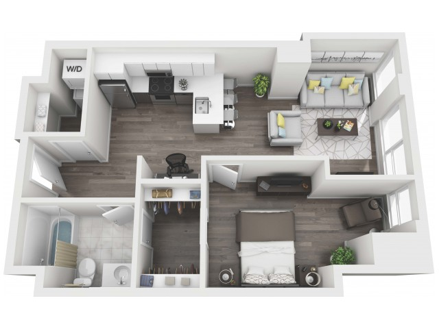 UNIT 08 | 3D FLOOR PLAN