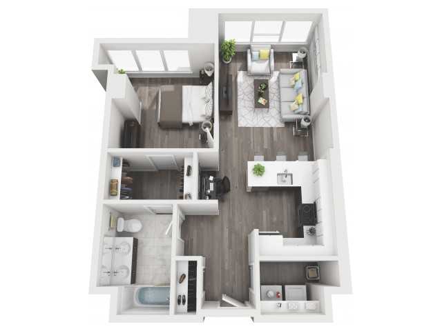 UNIT 09 | 3D FLOOR PLAN