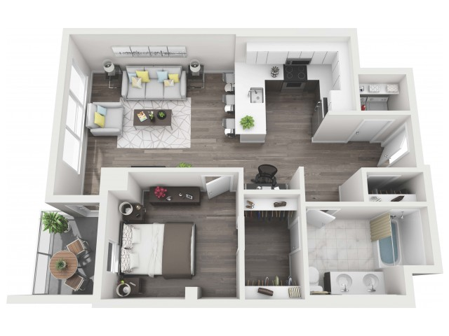UNIT 11 | 3D FLOOR PLAN