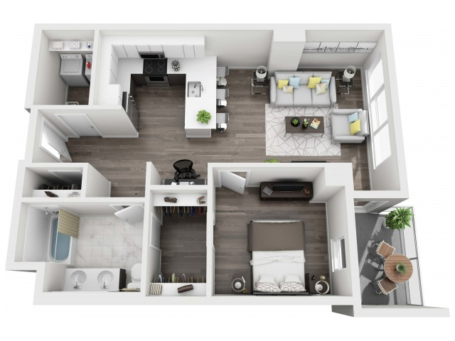 UNIT 12 | 3D FLOOR PLAN